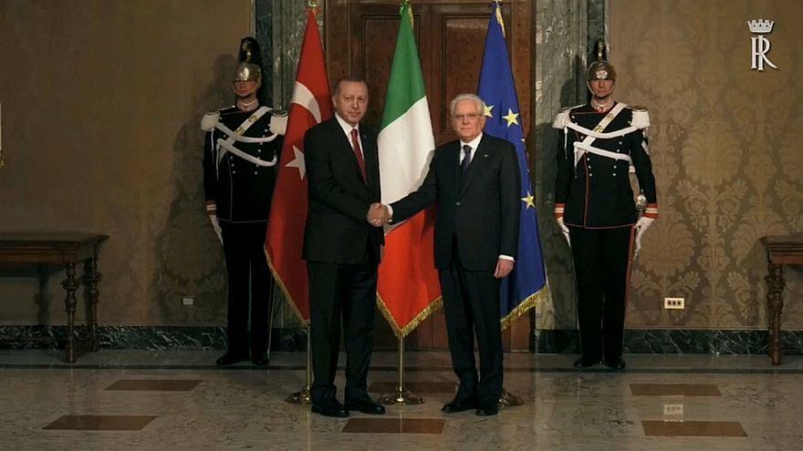 Erdoğan İtalya'da Papa Francis ve İtalya Cumhurbaşkanı ile görüştü