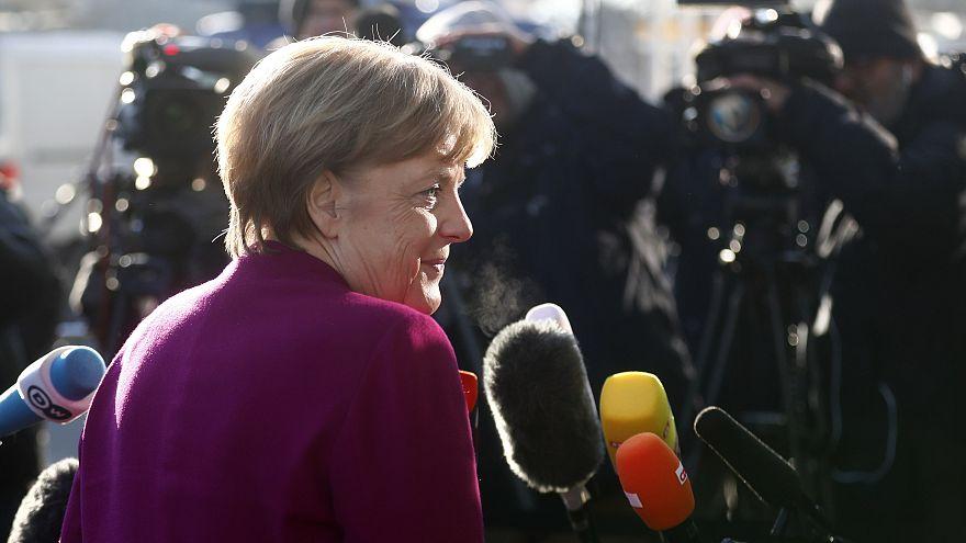 Angela Merkel am 6.2. in Berlin