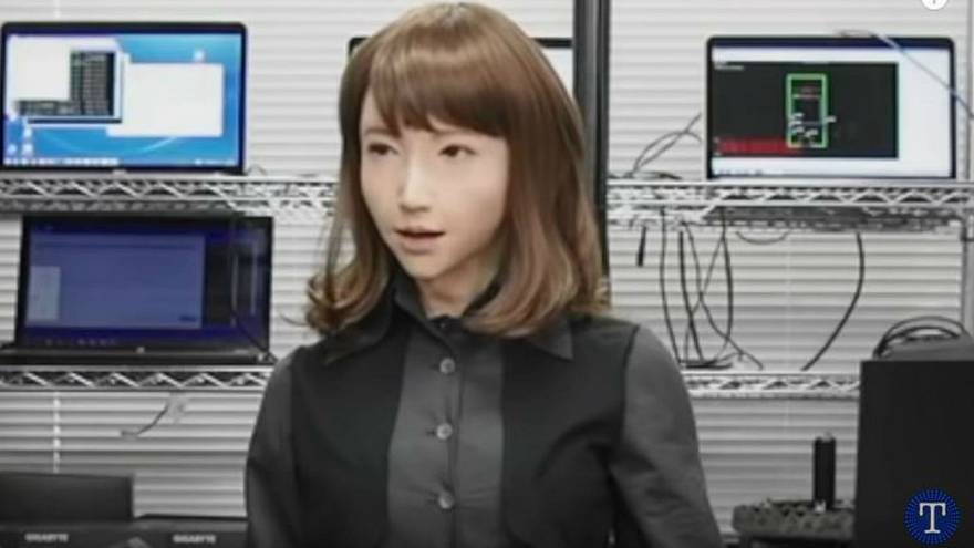 روبوت امرأة يقدم نشرة الأخبار قريبا في اليابان!