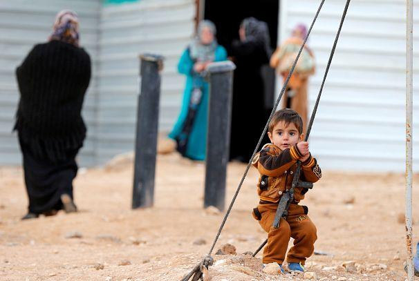 یک کودک آواره سوری