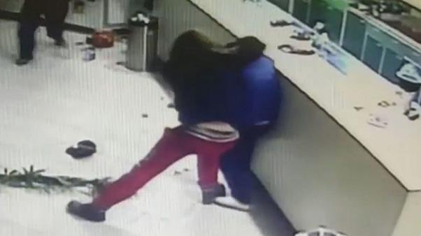 Watch: Sushi restaurant staff fight back during armed heist