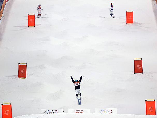 تمرین در محل برگزاری مسابقات المپیک زمستانی