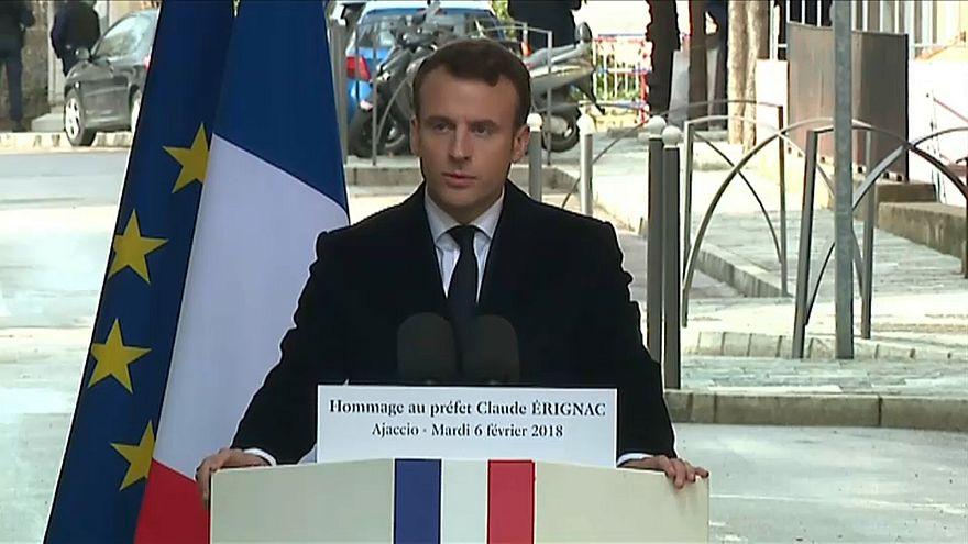Fransız Cumhurbaşkanı Macron'dan kritik Korsika ziyareti