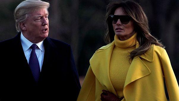 دونالد ترامب يحاول مجددا الإمساك بيد زوجته ولكنها ترفض