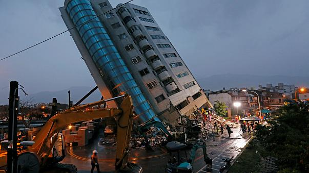 damaged residential building after earthquake hit Hualien