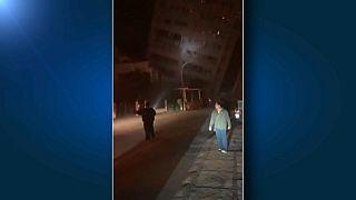 شاهد صور الزلزال الذي ضرب تايوان