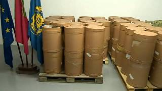 Portugal's judicial police show off one of their largest ever hauls