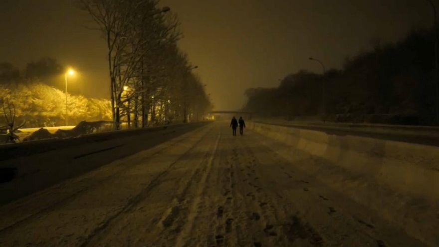 Grosse pagaille en Ile-de-France à cause de la neige