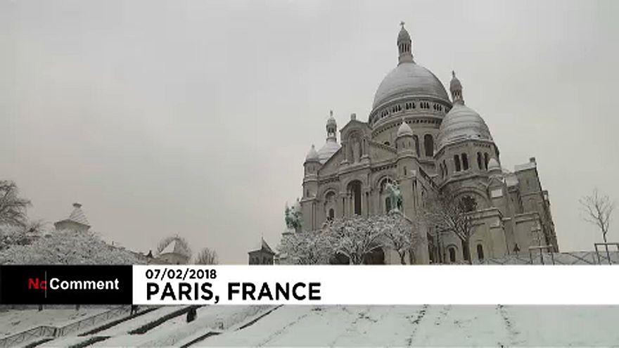 Síelők Párizsban