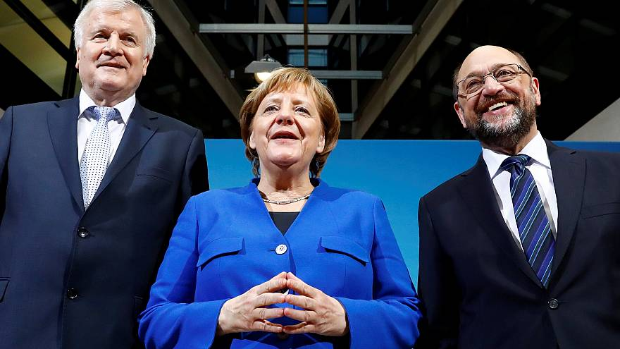 Seehofer, Merkel, Schulz