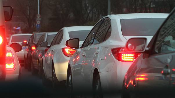 Which European commuters spend the most time in traffic jams?