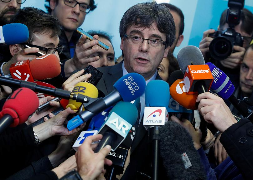 Le dirigeant catalan Carles Puigdemont
