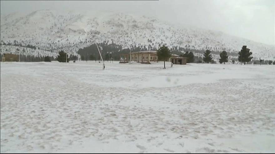 مناطق جبلية بالمغرب تعاني من العزلة ونقص المؤن الغذائية بسبب الثلوج