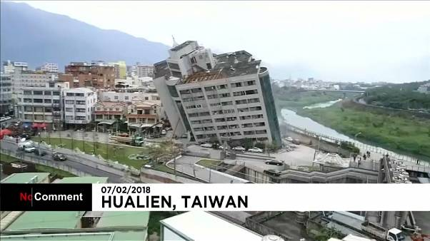 Rescuers save residents from building rocked by Taiwan quake