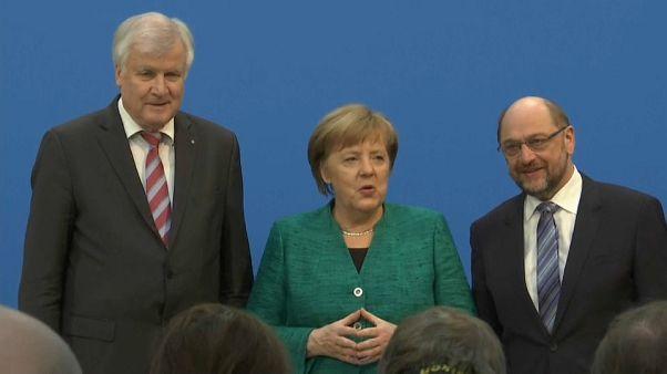Merkel y Schulz alcanzan un acuerdo de Gobierno en Alemania