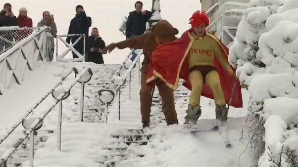 Paris: Ski und Rodel gut
