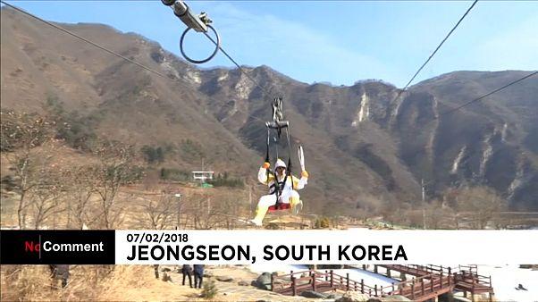 Sud Corea, passaggio mozzafiato in alta quota per la torcia olimpica