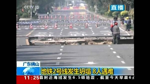 Subway construction collapse kills eight in China