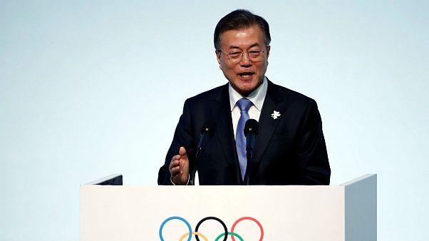 South Korean President Moon Jae-in Gangneung, South Korea