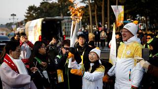 Η Ολυμπιακή Φλόγα έφτασε στη Ν.Κορέα