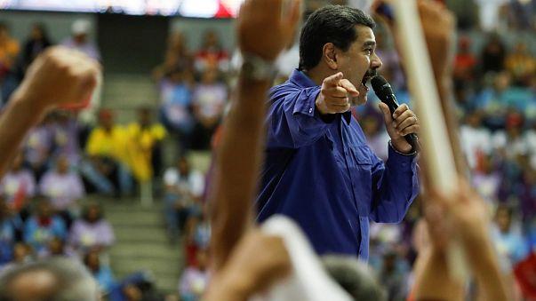 Nicolás Maduro durante un acto en Caracas