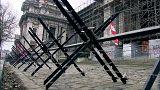 Защитные сооружения у брюссельского Дворца правосудия