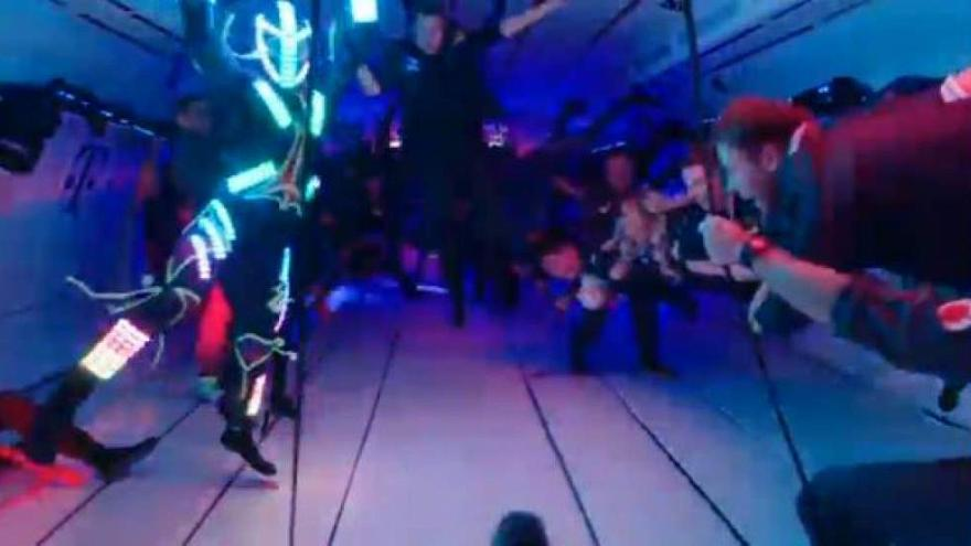 World's first dance club in zero gravity takes off