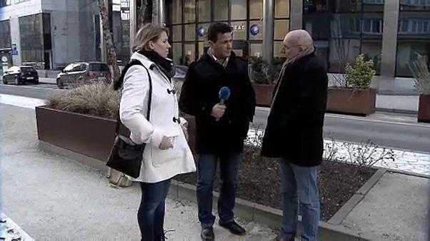 Due parenti di vittime degli attentati di Bruxelles con il nostro reporter