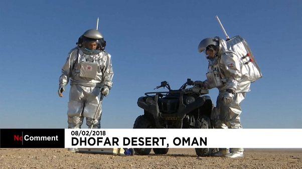 Un desierto de Omán, como Marte