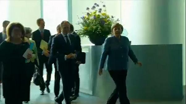 Donald Tusk ospite di Angela Merkel a Berlino