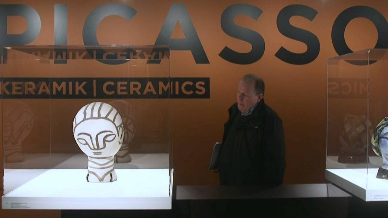 Picasso-Keramik im Louisiana-Museum in Kopenhagen