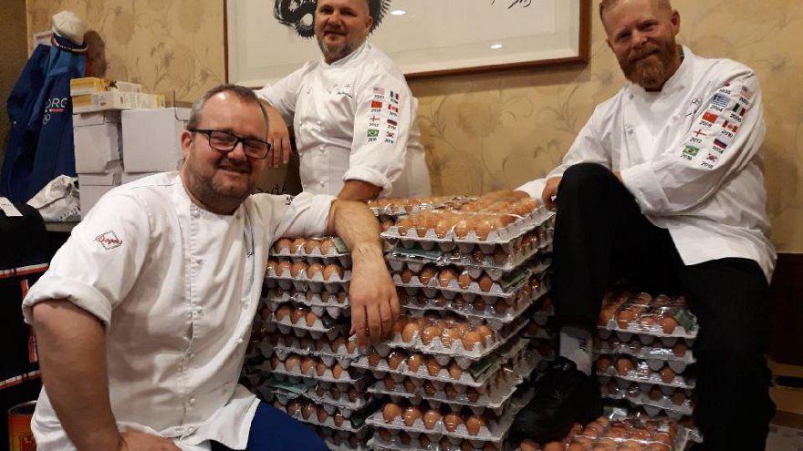Al equipo olímpico de Noruega le sobran huevos