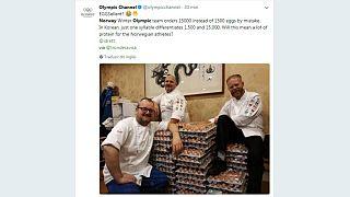 A Noruega é a primeira campeã de PyeongChang... mas em ovos!