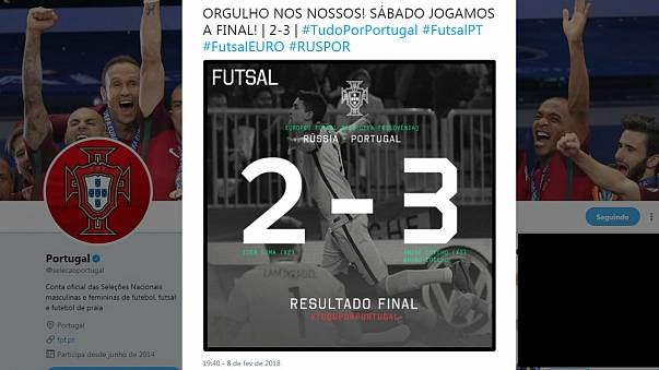 Euro2018 de Futsal: Portugal vence Rússia e apura-se para a final