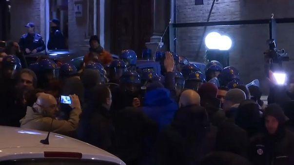 Protesta neonazi en Italia