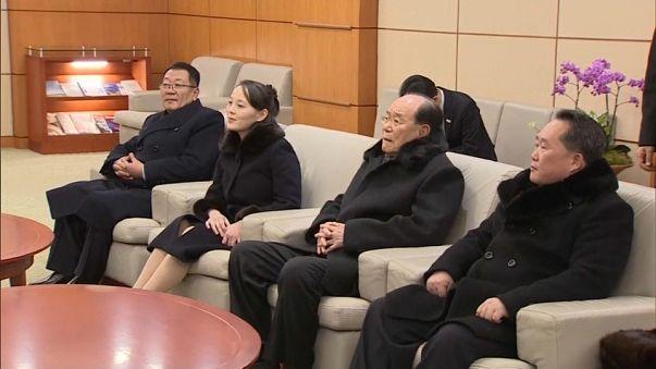 Winter Olympics: Kim Jong Un's sister meets South Korean President following opening ceremony