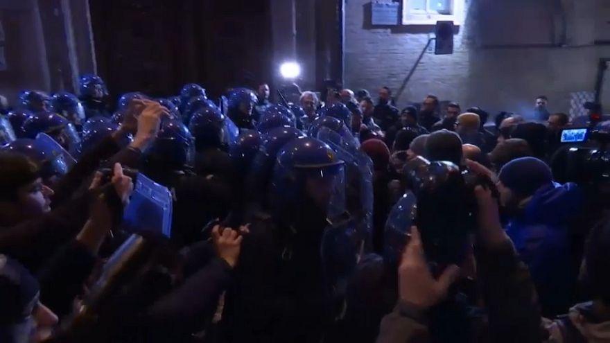 Manifestação neofascista em Itália
