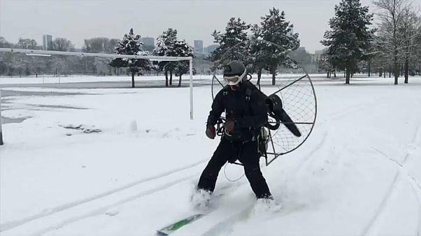 Карлсон на лыжах