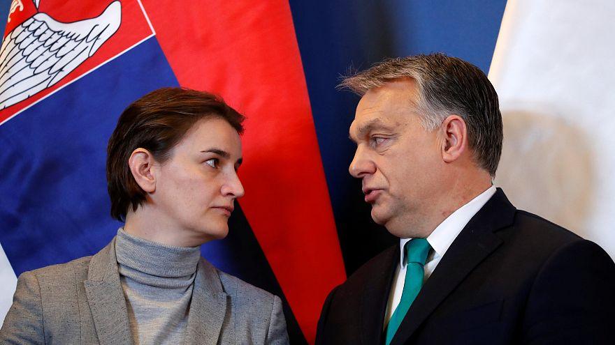Szerbia uniós csatlakozását sürgette Orbán Viktor