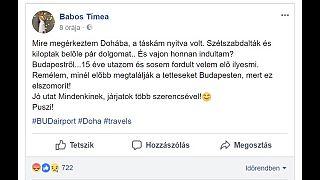 Babos Tímea csomagját is kifosztották Budapestről repülve