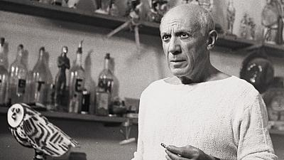 Picasso in in Vallauris, France, in 1953