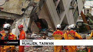 Continúa la búsqueda de supervivientes en Taiwán