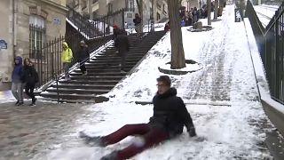 Wintersportfreuden in Paris
