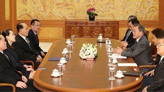 Güney Kore'de tarihi görüşme