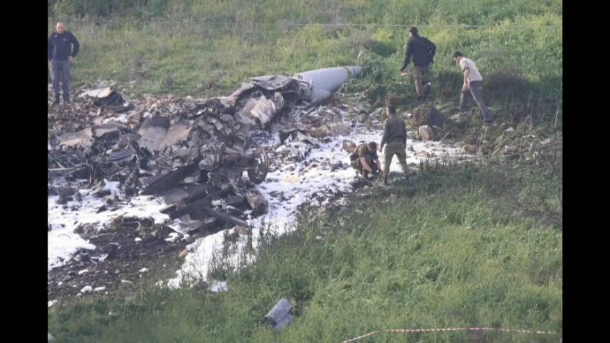 Un avion de combat israélien s'écrase près de la Syrie