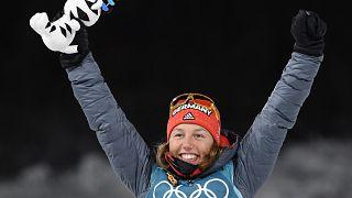 Olympia: Biathletin Dahlmeier holt erstes Gold für Deutschland