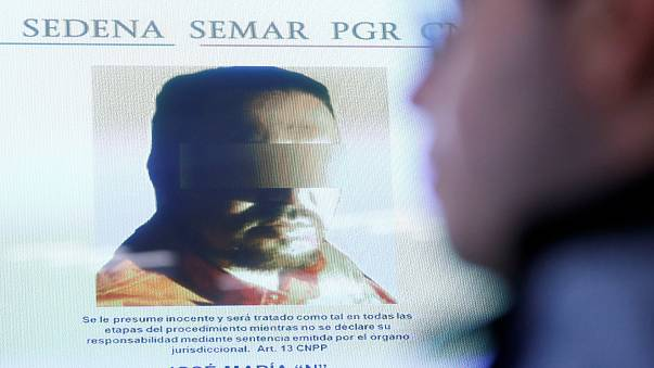 Jose Maria Guizar, Zetas drug cartel member shown at news conference Mexico