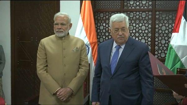 Histórica visita de un primer ministro de la India a Cisjordania
