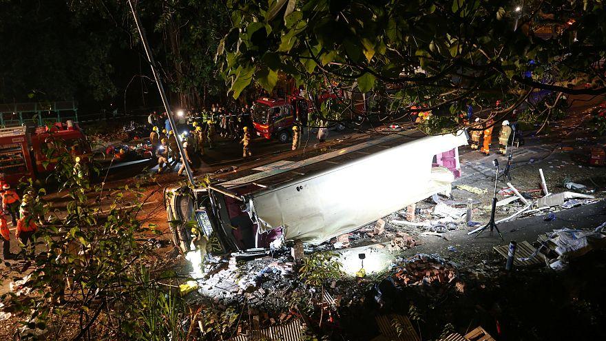 Accident de bus meurtrier à Hong Kong