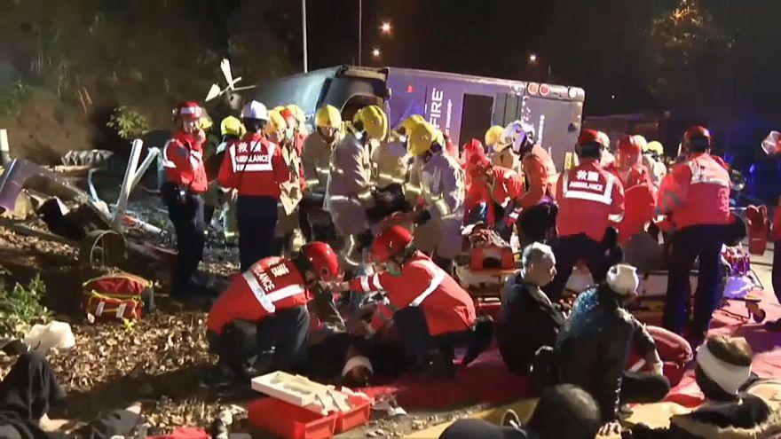 Grave incidente stradale ad Hong Kong